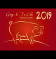 2019 happy chinese new year vector image