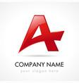 a letter company logo vector image