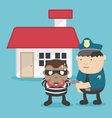 a thief after steal a home Police arrested vector image vector image