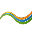 Abstract shiny colorful waves vector image vector image