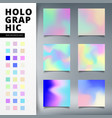 abstract templates set of trendy colorful light vector image