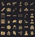 antiterrorist organization icons set simple style vector image vector image