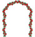 arch red roses vector image vector image