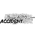 auto accident lawyers text word cloud concept vector image vector image