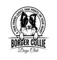 border collie - badge sticker label emblem