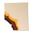 Burned sheet of paper icon vector image