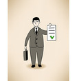 businessman with signed contract vector image vector image