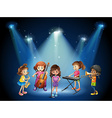 Children playing music in concert vector image vector image
