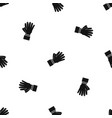 clapping applauding hands pattern seamless black vector image vector image