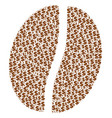coffee bean composition of dollar and dots vector image