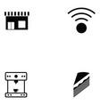 coffee shop icon set vector image vector image