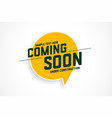 coming soon under construction banner design vector image vector image