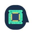 Computer Processor Chip vector image vector image