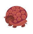 cute simple brown turtle cartoon vector image