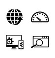 development simple related icons vector image vector image