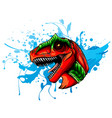 dinosaur head sketch color drawing a vector image vector image
