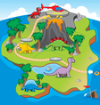 Dinosaurs Island Game vector image vector image
