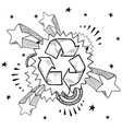 doodle pop recycle vector image vector image