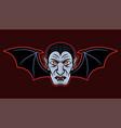 dracula head with bat wings vector image vector image