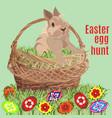 easter egg hunt poster banner template vector image