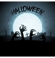 eps 10 halloween background with zombies vector image
