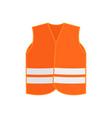 flat icon of orange safety vest waistcoat vector image