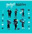 gadgets smartphone addiction black vector image