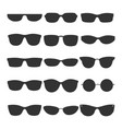 glasses black silhouette icons vector image vector image