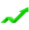 green arrow 3d up icon vector image vector image