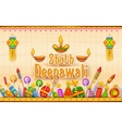Happy Diwali Background vector image vector image