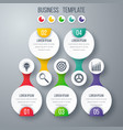 infographics template five options with circle vector image vector image