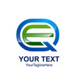 initial letter qe or eq logo template colored vector image