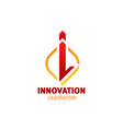 innovation laboratory letter i icon vector image vector image