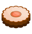 jelly cookie icon isometric style vector image vector image