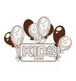kid party zone event celebration decoration vector image vector image