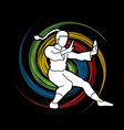 kung fu fighting action graphic vector image vector image