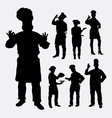 Master chef profession silhouettes vector image vector image