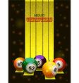 Merry Christmas bingo balls vector image vector image