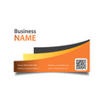 modern business card orange background imag vector image