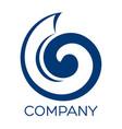 modern snail logo vector image