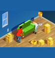 new home isometric composition vector image
