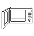 open microwave icon outline style vector image vector image