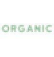 organic text halftone icon vector image vector image