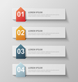 paper infographic6 vector image vector image