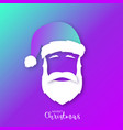 portrait of santa claus in bright colors paper vector image vector image
