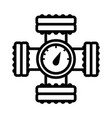 pressure display line style icon vector image vector image