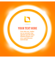 round frame message bright orange background vector image vector image