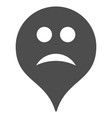 sad map marker flat icon vector image vector image