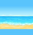 sea coast tileable landscape vector image