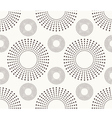 Seamless pattern with dotted circles vector image vector image